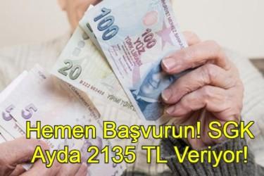 SGK Ayda 2135 TL Ödeme Yapıyor! Faydalanmak İçin Hemen Başvurun