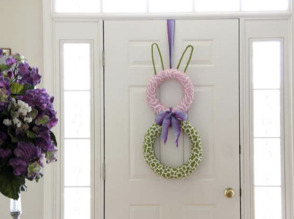 Tavşan Kulaklı Kapı Çelengi Yapımı Resimli>